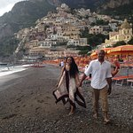 Frederico, our driver, shot this pic of my wife and I, on the coast in Positano
