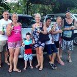 Naomi and family at Bali safari marine park