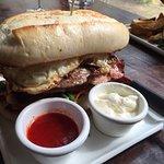 The Nookery steak sandwich - sooo loaded!!