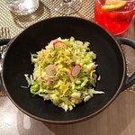 The delicate crab salad