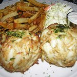 Who needs Baseballs when you can have them for dinner! Mos #Crabcakes #Baltimore #theBest #OleBa