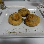 Spanakopita (Crispy pastry swirls filled with spinach & ricotta)