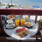 breakfast on the balcony - very nice!
