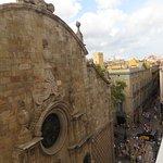 looking towards Las Ramblas fromt he terrace