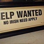 No Irish allowed