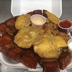 fried pork chop can can ,pork fried rice, fried pana plantain