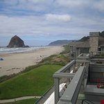 From Balcony views across to Haystack rock