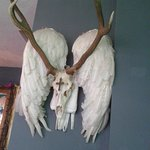 something to buy ! angel and stag horn sculpture