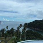 部屋から見た海の眺めは素晴らしい