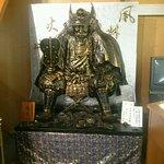 宝物館の中の信玄像