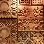 Wood carvings adorne one wall_large.jpg