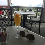 Edible flowers and bottomless mimosas are included with your breakfast