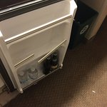 Broken refrigerator in a $500+ per night room