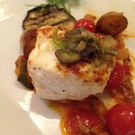 Halibut special with roasted veggies.