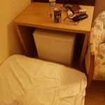 The mini bar - unable to open due to matress on floor