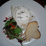 Baked whole camembert served with homemade red onion rye bread