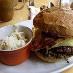 Patriot Burger & Potato Salad
