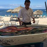 Fresh fish directly from the ocean that morning. Choose your fish for dinner!!!