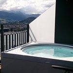 Whirlpool auf dem Balkon (geschützt)