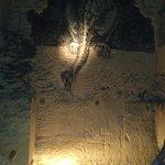 Muur tekening in de grot