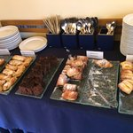 A decent breakfast spread, and there are savouries too, but not many concessions to foreigners.