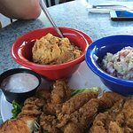 Fried Chicken Fingers, Potato Salad and Cole Slaw