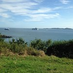 This is the view from a few metres further along the coast path.