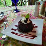 Incredible Chocolate Lava Cake. Freshly made to order!