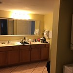 Large bathroom wih separate shower and jacuzzi tub.