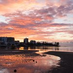 Spectacular sunrise from the foreshore walking path