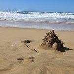 Washed up sand castle