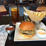 Met restaurant cheese burger and fries good