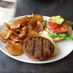 Veggie Burger with Kettle Chips