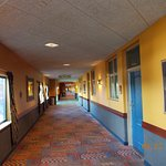 Hallway early morning between front desk & Theme park