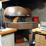 Imported domed brick oven