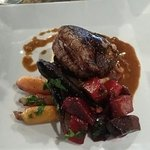 Beef tenderloin with beets and heirloom carrots, fried flounder platter, curry coconut mussels,