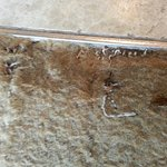 beside the cockroaches, there is a sharp metal thing at the edge of the carpet. Very dangerous.