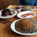 Stuffed French Toast & Blueberry Pancakes
