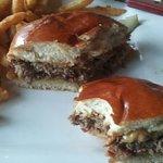 Try the peanut butter bacon hamburger!