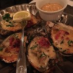 Baked Oysters, Seafood Martini, Paneed Fish, whole Flounder.