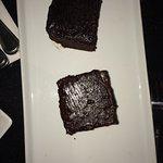 Veggy sandwich & chocolate brownies.