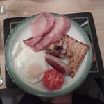 Second course, traditional Scottish breakfast.
