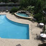 outdoor pool and whirlpool and view from our room