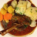 Lamb shank and nice potatoes
