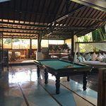 Just outside our room, pool table and day beds. Our room was called Lama 4.