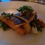 Pan Fried Trout with Breaded Hallibut Goujons