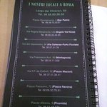 Dietro al menu i posti dove trovare questo ristorante a Roma