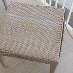 mobilier de terrasse abimé