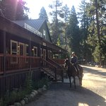 Riding into the back country after a delicious breakfast at the lodge.