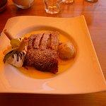 Apple Strudel with cinnamon ice cream